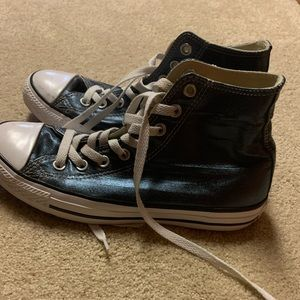 Metallic Blue Converse